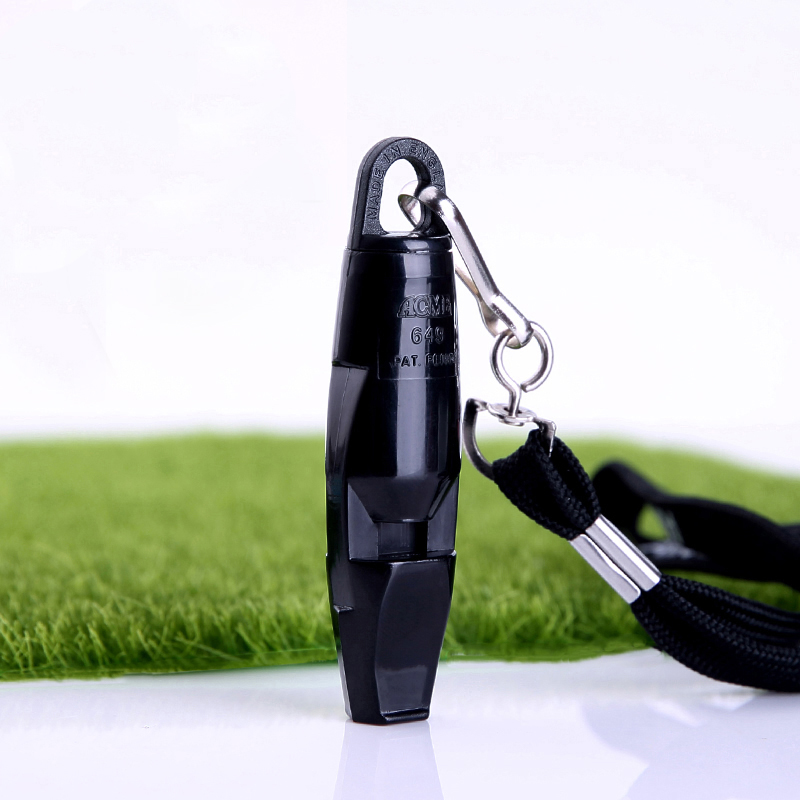 ACME Double Chamer High Decibel Kunststoff Refree Pfeife für Fußball Outdoor Emergency Survival mit Lanyard Cheerleading Whistle