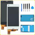 """4.3"""" Black White For Sony Xperia Z3 Mini Compact D5803 D5833 LCD Display Touch Screen Digitizer Assembly+Adhesives+Repair Tools"""