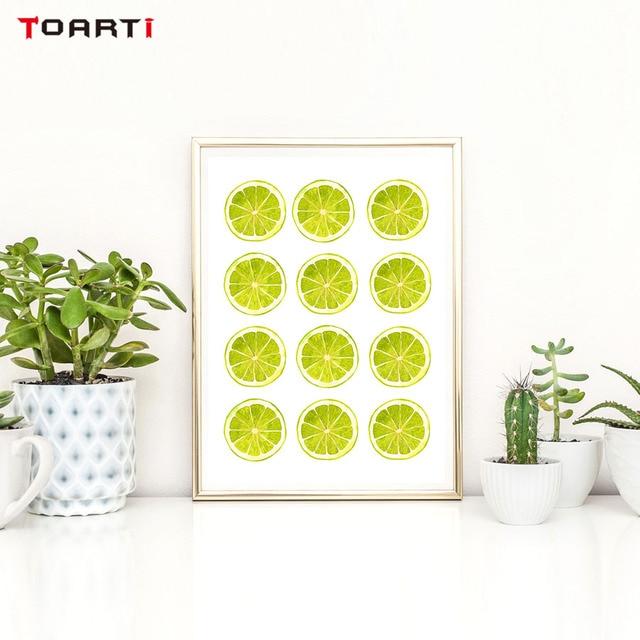 Aliexpress.com : Buy Bright Colors Yellow Green Lemon Wall Art ...