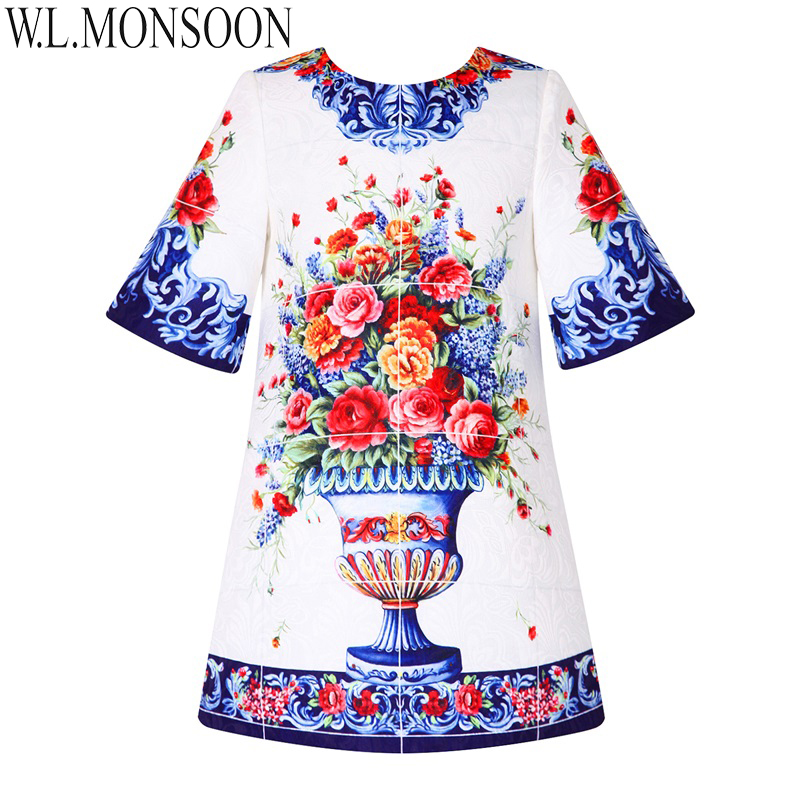 цена на W.L.MONSOON Toddler Girl Dresses Kids Clothes Half Sleeve Brand Princess Dress Girls Costume Flower Children Christmas Dress