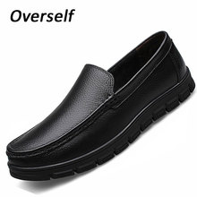 moccasins mens gown italian leather-based footwear luxurious model males loafers real leather-based males formal footwear platform huge measurement 38-46