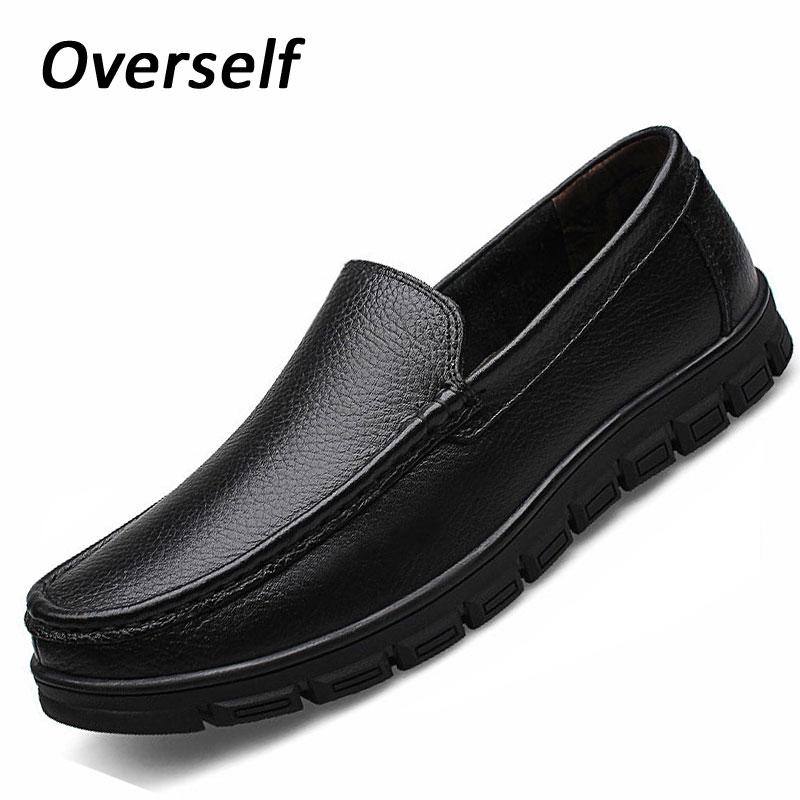 moccasins mens dress italian leather shoes for men loafers genuine leather man formal shoes dress platform big size 38-46