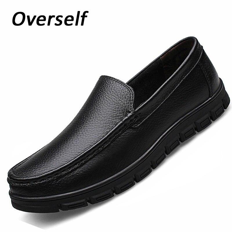 mokasinke muška haljina talijanske kožne cipele za muškarce mokasinke prave kože čovjek formalne cipele haljina platforma velike veličine 38-46