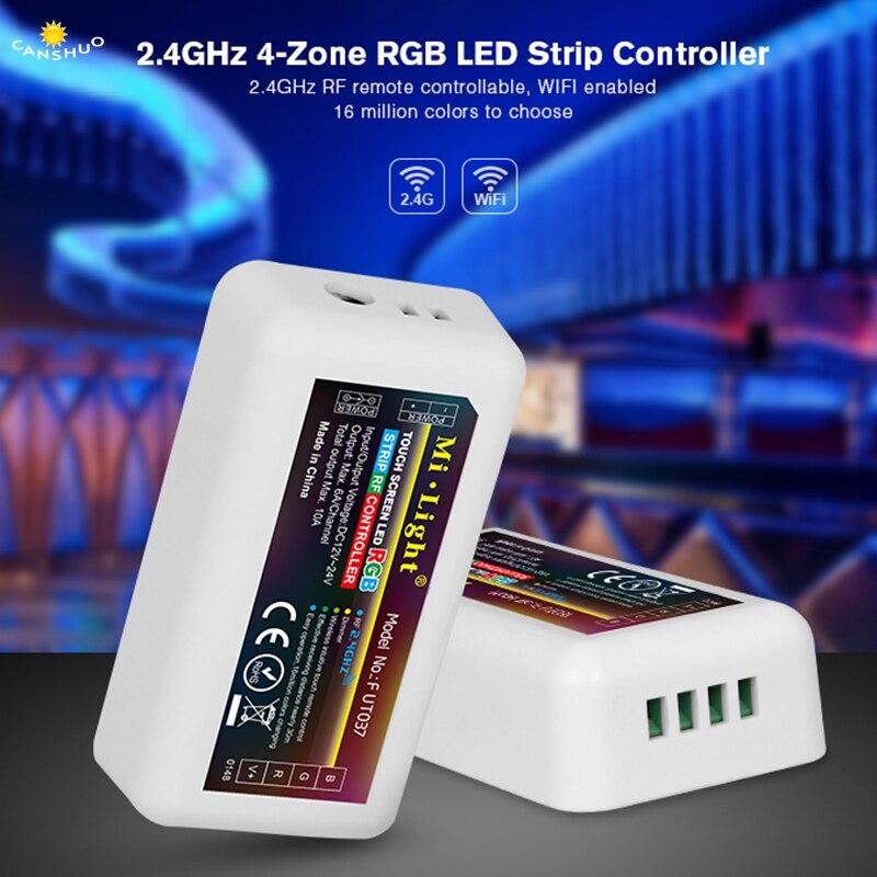 Mi Light 2.4G RF Wireless Led Dimmer 4 Zone remote control Dual White & Brightness Adjustable for WW/CW Single Color Led Strip цена