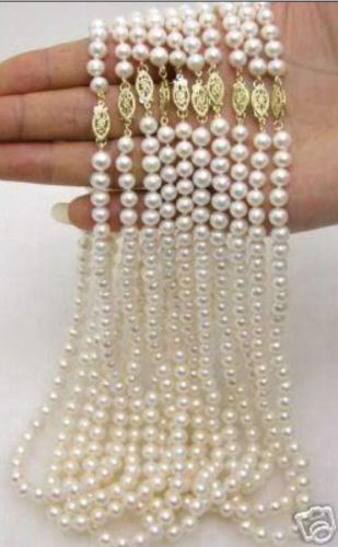 10X10 jewerly free shipping > wholesale 10pc 6-7MM Akoya Cultured Pearl Necklace 17.5