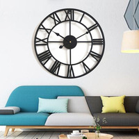 40/50cm style wall clock Large wall clock vintage large retro wall clocks On The Wall Decoration for Roman Home Decor