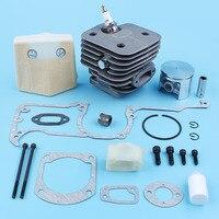 52 milímetros Nikasil Revestidos Spacer Kit de Filtro de Ar De Admissão Pistão Do Cilindro Para Husqvarna 266 266XP 266SE 162 Motosserra Peças de Reposição|Motosserras| |  -