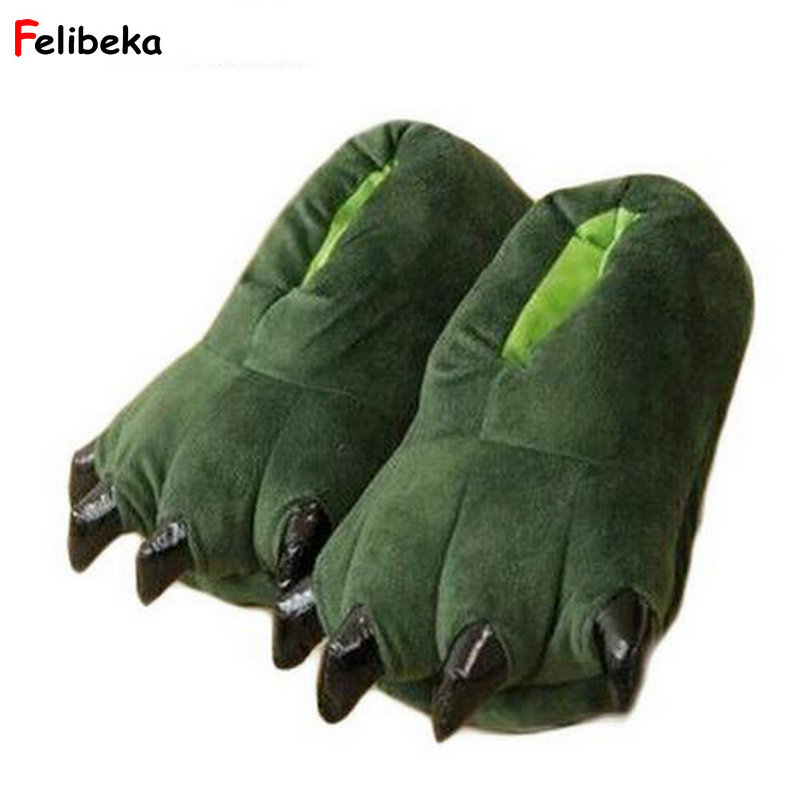 Drop shipping Funny Winter Family Matching shoes thickening antiskid fluffy kids slippers coral fleece dinosaur claws shoes christmas balls tree print antiskid coral fleece bath mat