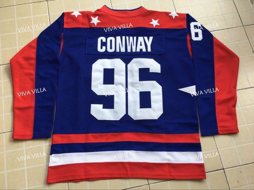 Mighty Ducks Jersey 96 Charlie Conway Film USA Hockey Trikots Genäht Herren-eishockey Jersey S-3XL Freies Verschiffen