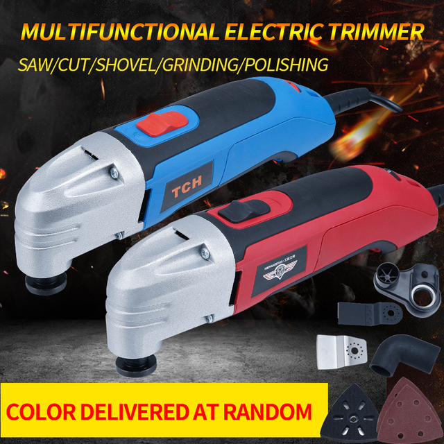 37 pcs renovator oscillating tools saw blade +Multifunction Power Tool electric Trimmer wood/stone/till/brick/metal working tool