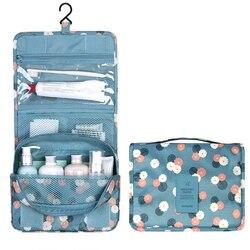 Висячая дорожная косметичка для женщин на молнии, косметичка из полиэстера, вместительная сумка для макияжа, сумка-Органайзер, сумка для мы...