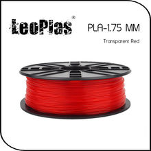 Worldwide Fast Delivery Direct Manufacturer 3D Printer Material 1kg 2.2lb 1.75mm Transparent Red PLA Filament