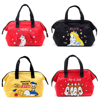 Alice Little Mermaid Chip Dale Donald Duck Totoro Insulated Lunch Tote Bag for Kids Women Thermal Cooler Bag Picnic Food Bags tote bag