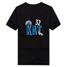 2017 männer Minnesota #32 Karl Anthony Städten KAT T-shirt Kurzarm T-shirt männer Timberwolves Mode W1202016