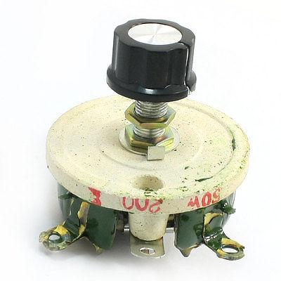 Проволочный керамический потенциометр, переменный Реостат резистор 50 Вт 200 Ом