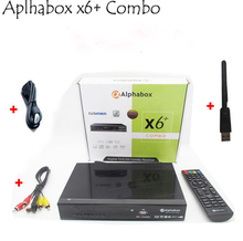 Alphabox X6 Combo+av cable +usb wifi DVB-S2 & T2 & C Satellite TV Receiver Support Ccam Newcamd  powervu for Africa