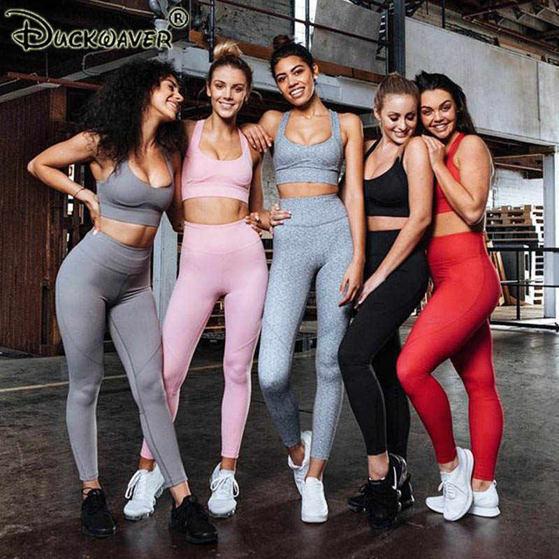 3061820eacf2b Workout Clothes For Gym Clothing 2 Piece Leggings Yoga Set Women Ombre  Sports Active Wear Fitness