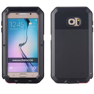 Image 1 - Водонепроницаемый ударопрочный чехол для телефона samsung Galaxy S6 S6edge S7 S7Edge PLUS NOTE4 5 металлический алюминиевый Прочный чехол из закаленного стекла