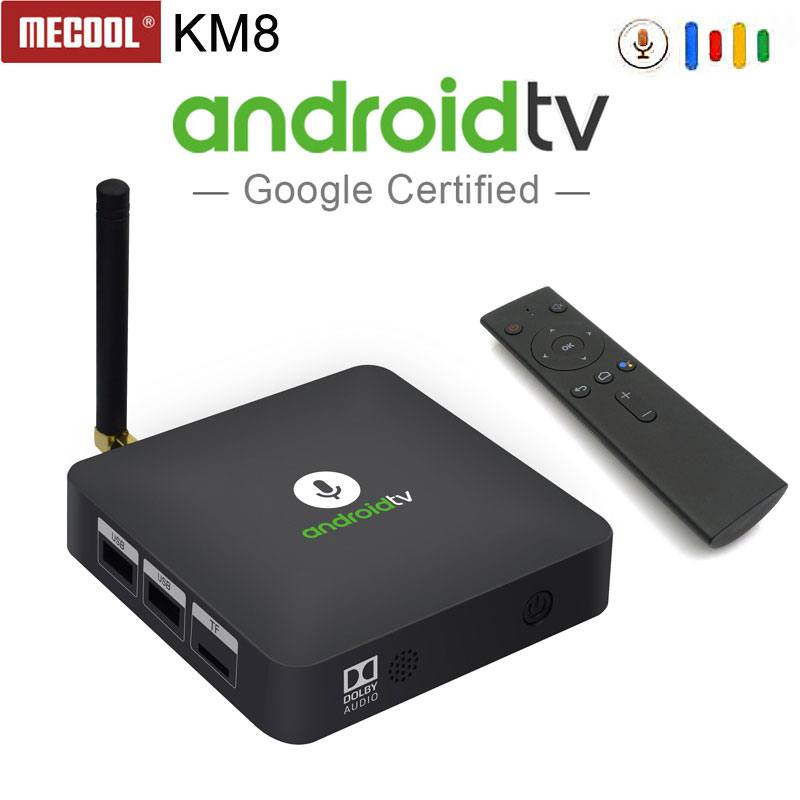 2018 Newest MECOOL KM8 Amlogic S905X quad-core 2GB+16GB Android 8.0 tv box BT4.2/2.4G WiFi Google Voice Control VP9 HDR10 Dolby цена 2017
