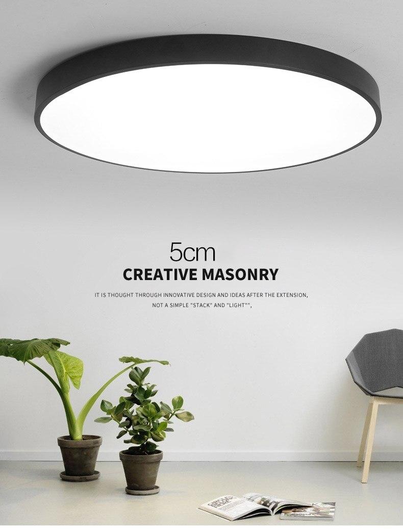 teto circular lâmpadas de teto controle remoto