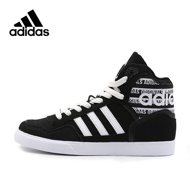 Genuine Adidas Sneakers New Originals Sports Black White Stripe Letter Unisex Skateboarding Shoes High-top Adidas Sneakers adidas samoa kids casual sneakers