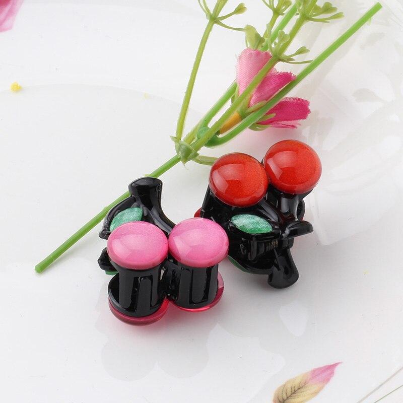 M MISM Red Cherry Hairgrip For Children Girls Cute Hairpin Hair Accessories Ornaments Small Hair Claw Kids Hair Clip