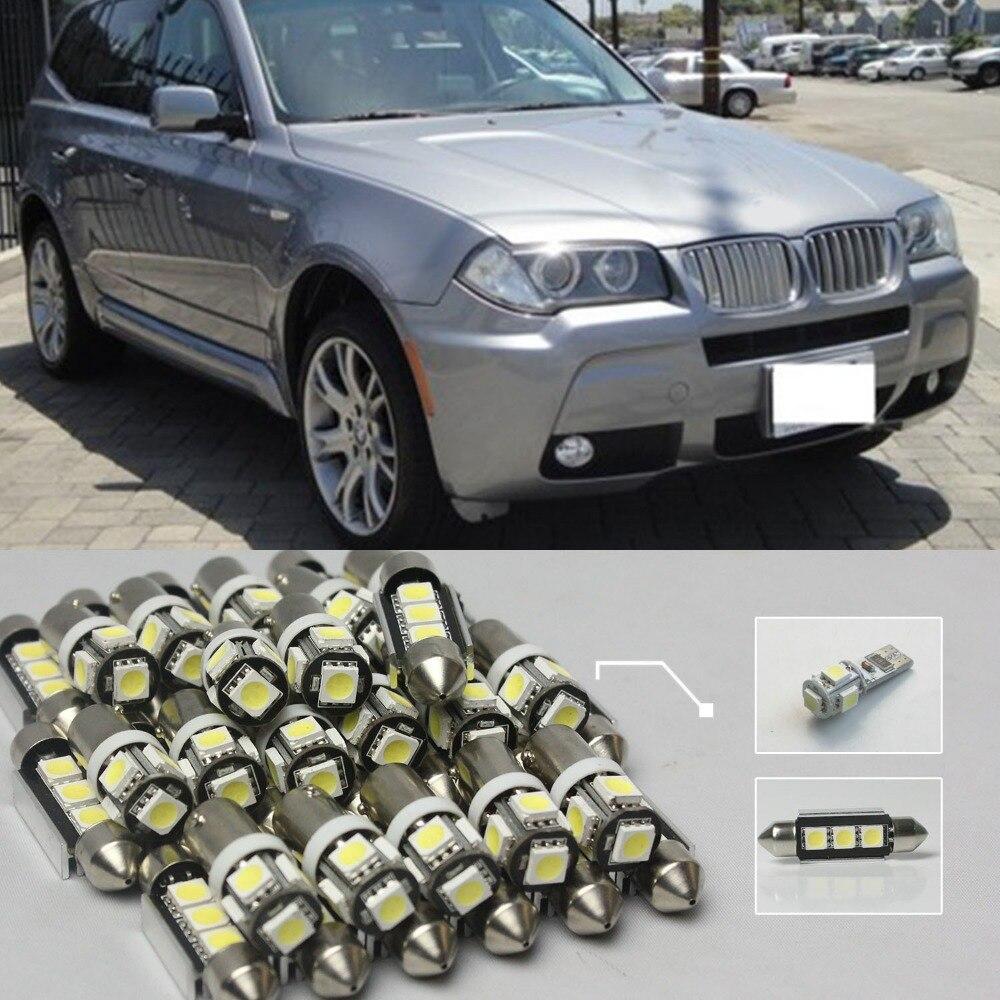20 xWhite sans erreur Led intérieur lampe ampoule Kit de lumière pour BMW E83 X3 2004-2010 voiture-style Canbus livraison gratuite #81