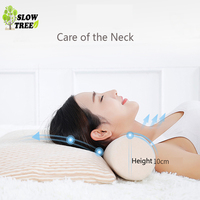 Slow Tree Natural Latex Cylindrical Pillow Neck Cervical Spine Oblong Candy Sleeping Travel Pillow Neck Bed Memory Pillow