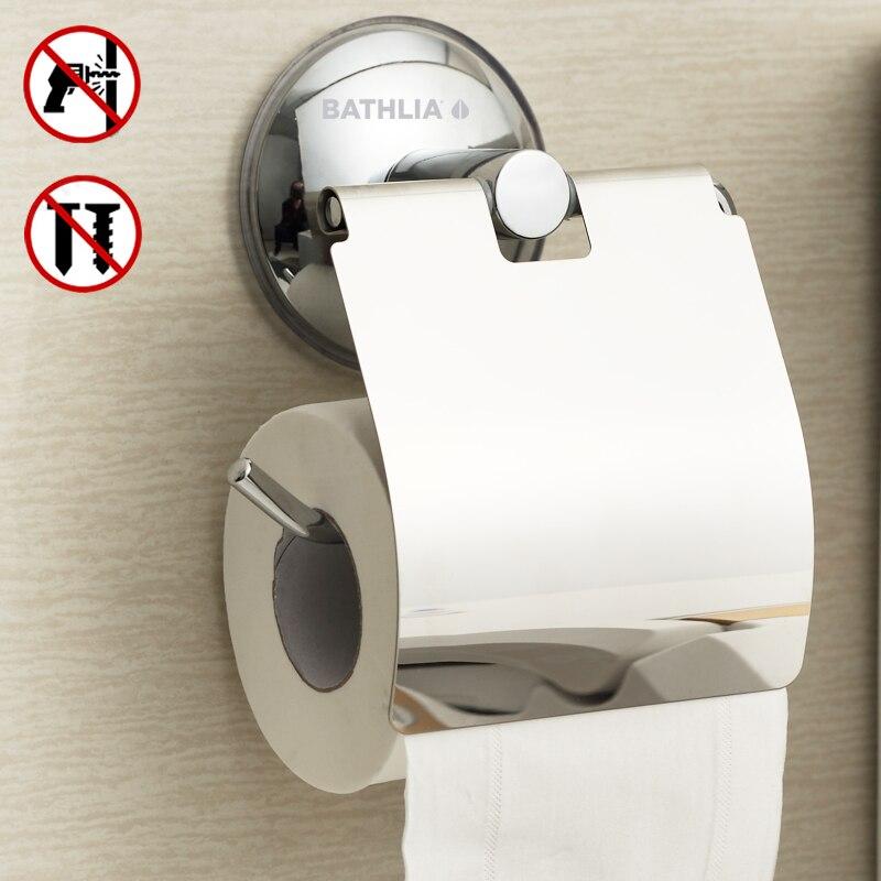 Soporte de papel higiénico de acero inoxidable para pared de succión resistente soporte de papel higiénico