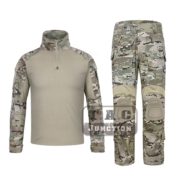 Emerson G3 Combat Shirt & Pants Trousers w/ Knee Pads Set EmersonGear Tactical Military Hunting GEN3 Camouflage BDU Uniform MC emersongear g3 combat shirt pants military bdu army airsoft tactical gear paintball hunting uniform bdu atacs au emerson
