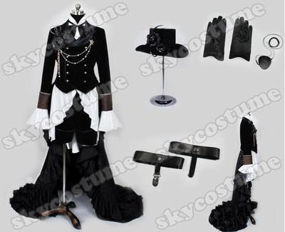 Здесь продается  Anime Kuroshitsuji Black Butler Ciel Phantomhive Party Dress Cosplay Costume Full Set Customized  Одежда и аксессуары
