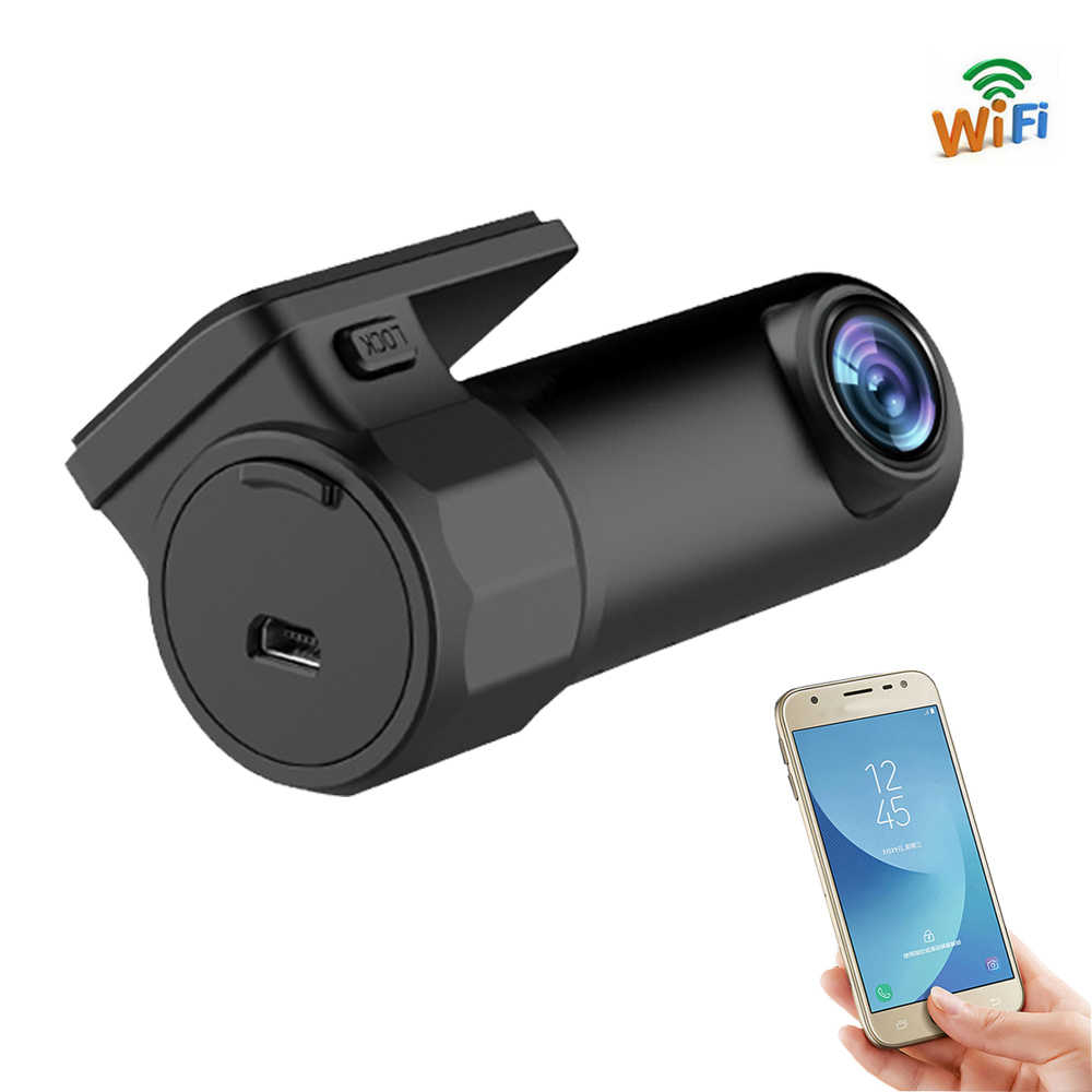 Car DVR Mini Camera Can Rotate 360 FHD 1080P Video Car Camera For Driving Recording Car DVR Detector Dashboard Camera WiFi