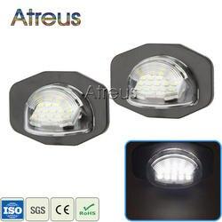 2X Автомобильный светодиодный Подсветка регистрационного номера 12 V SMD3528 Светодиодный лампа для освещения номерного знака для Тойота