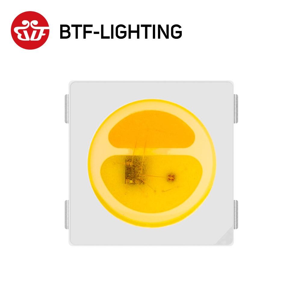 10 ~ 1000db SK6812 WWA (fehér + meleg fehér + borostyán) 5050 SMD (hasonló WS2812B) egyénileg címezhető digitális LED-chip-képpontok DC 5V