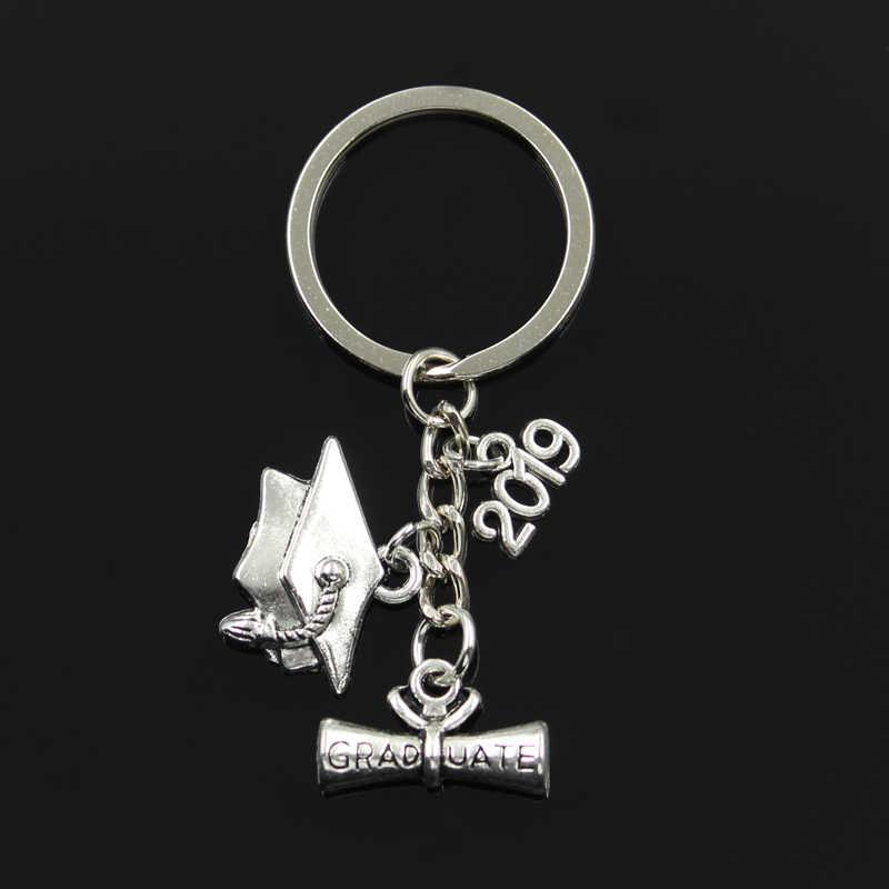 Мода 30 мм Подарочная Упаковка Ювелирные изделия серебро выпускник мерный колпачок 2018 2019 2020 кулон