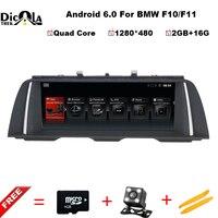 Ips экран 2 г + 16 ГБ android 6,0 DVD мультимедиа плеер для BMW 5 серии F10 F11 2011 2017 Оригинал CIC/НБТ Системы Бесплатная доставка