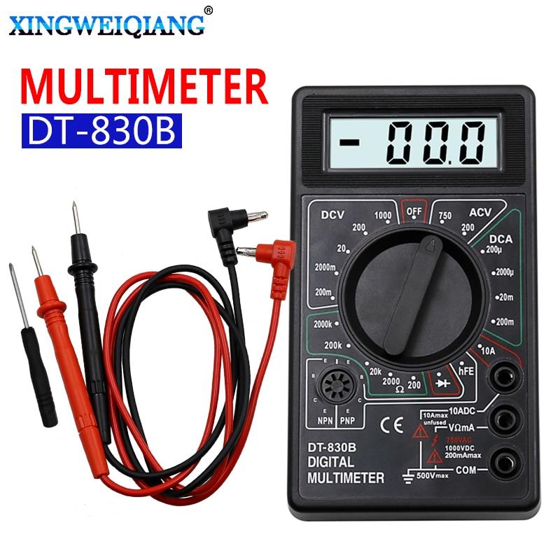 LCD Digital Multimeter AC DC 750 1000V Digital Mini Multimeter Probe For Voltmeter Ammeter Ohm Tester Meter