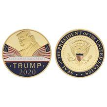 Памятная монета американский Президент Трамп коллекция года речевые ремесла художественное хранение сувенир сплав Круглые подарки