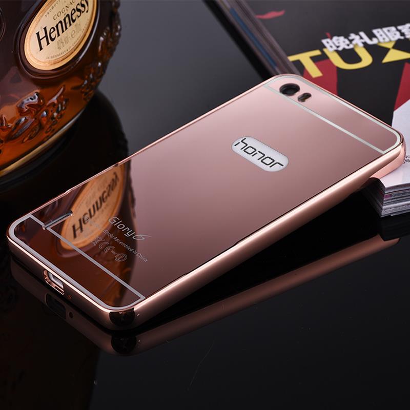 Xinchentech Untuk Huawei Honor 6 Kasus Mewah Cermin Logam Bingkai + - Aksesori dan suku cadang ponsel - Foto 2
