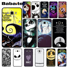 Babaite The Nightmare Before Christmas Martinetti Skellington E Sally Cassa Del Telefono Nero per Samsung J7 2017 J8 J6 J2pro Note8 Note9(China)