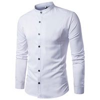 Hot Sale Autumn Men Dress Shirts Fashion Irregular Hem Open On Both Sides Shirts Men