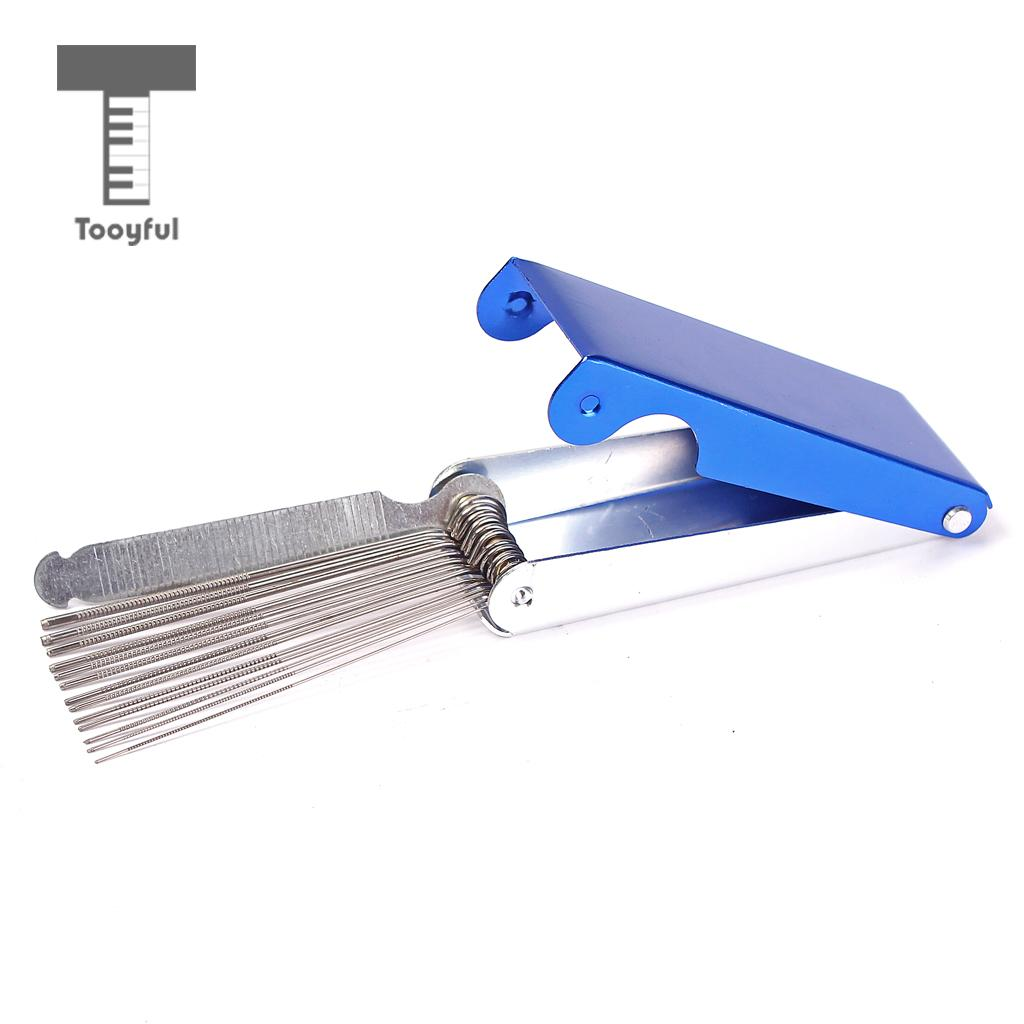 Tooyful Perfect Guitar Ukulele Top Nut Bridge File Tool Set Sander Cuts Better and Cleaner for Mandolin Bass String Slots Acce