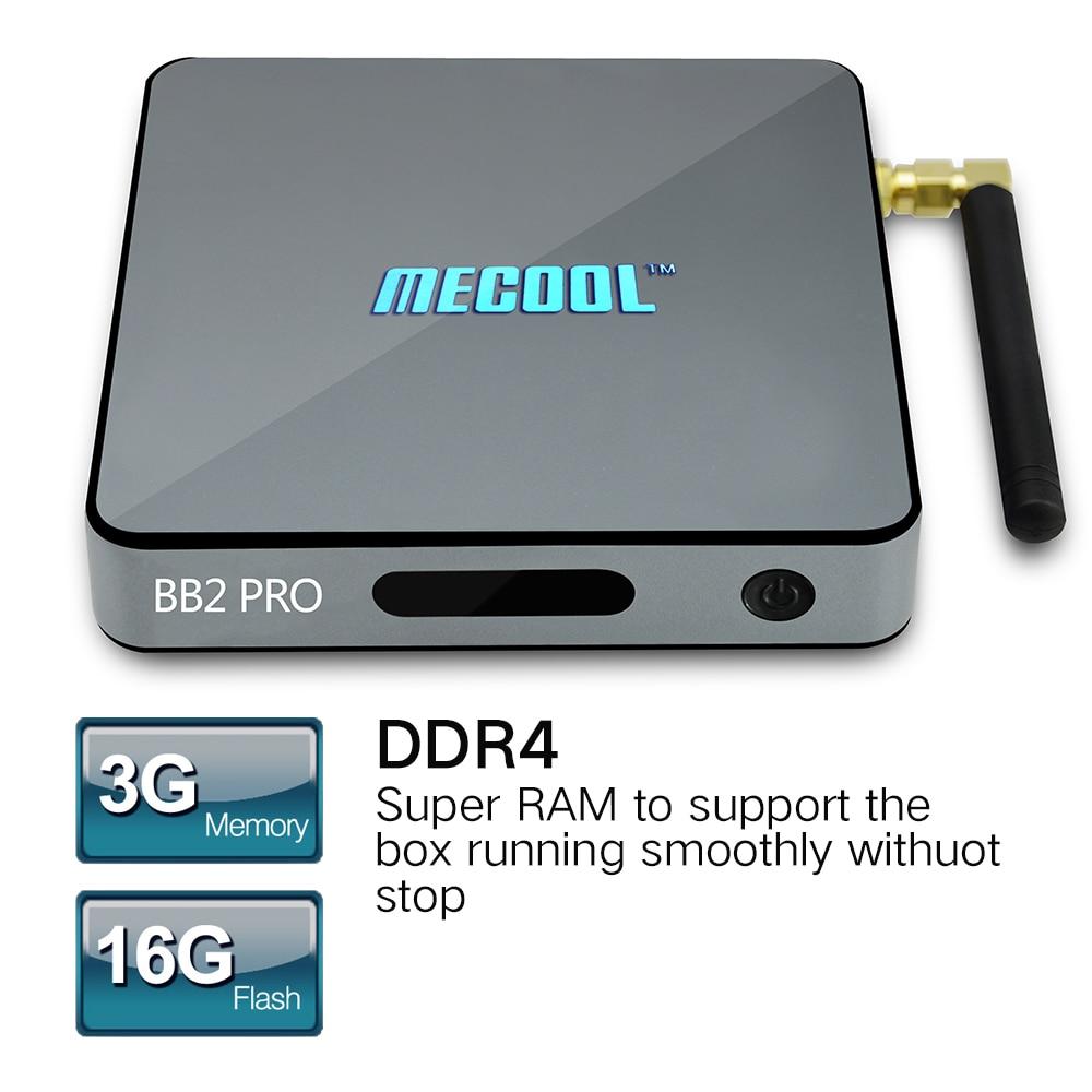 MECOOL BB2 Pro Android 6.0 TV Box Amlogic S912 64 bit Octa core ARM Cortex-A53 3GB 16GB 4K 2.4G/5.8G Wifi Set-top Boxes mecool bb2 pro amlogic s912 3gb ddr4 16gb emmc tv box rii i8 black