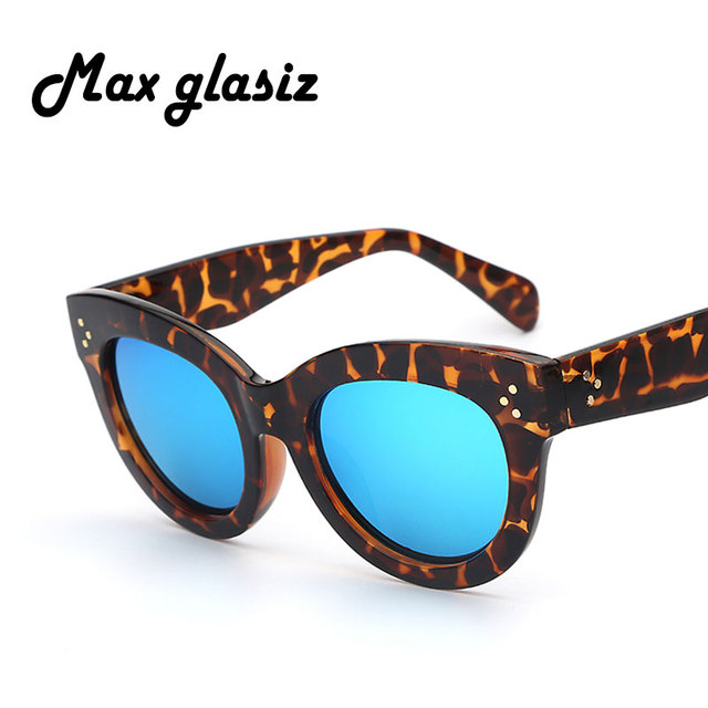 New 2016 Female Audrey Fashion Retro Glasses Rivets Vintage Women Sunglasses Cat Eye