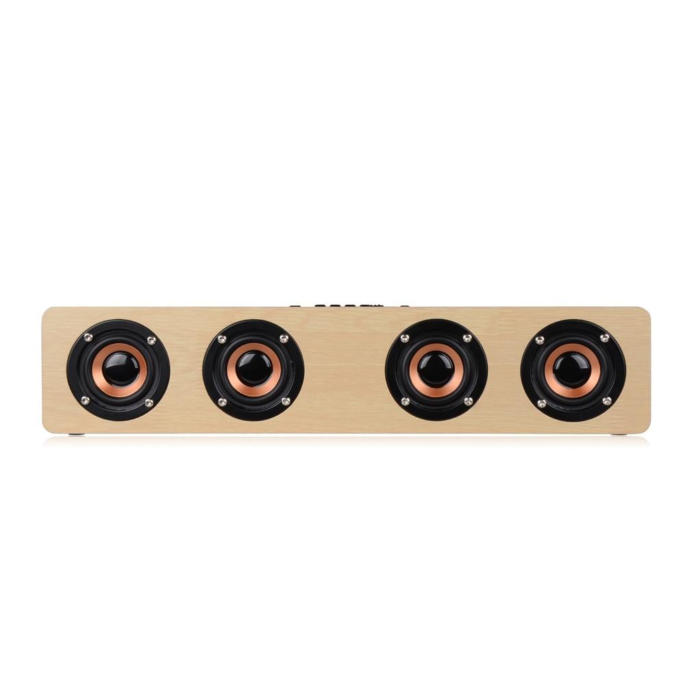 Փայտե անլար Bluetooth բարձրախոս Բարձր - Դյուրակիր աուդիո և վիդեո - Լուսանկար 3