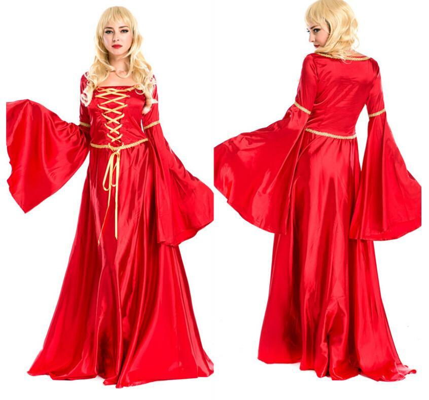 2015 Spring/Autumn new womens exotic cosplay suit vintage costumes dress ladies red dress enthusiastic for sale