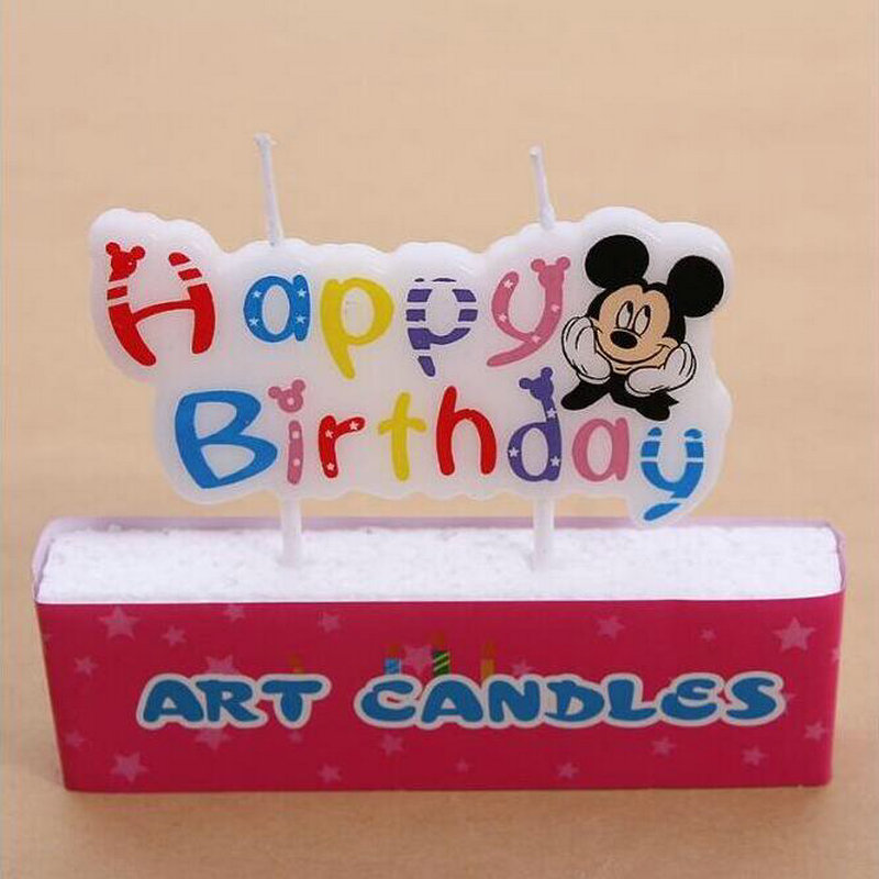 5pcs Mickey happy birthday cake topper baby Candles Supplies Kids Birthday Candles Cake Birthday Baby Party Decorations DIY super bowl ring 2019