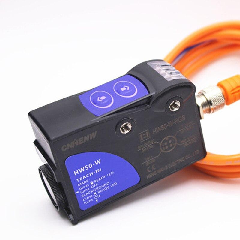 Sensor de Cor Olho Fotoelétrico Três-cor Inteligente Bolsa Tl50-w Substitui Eletromecânica Hw50-w