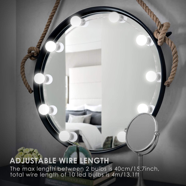 Firya Vanity Mirror Lights Kit Makeup Upgraded Adjustable Brightness Cosmetic LED Bulb for Makeup Hollywood Style Lighting Strip in Vanity Lights from Lights Lighting
