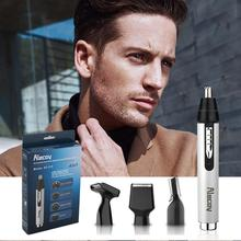 Ear and Nose Hair Trimmer for Professional USB Rechargeable Nostril Nasal Vacuum Cleaning System 4 in 1 Beard Clippers